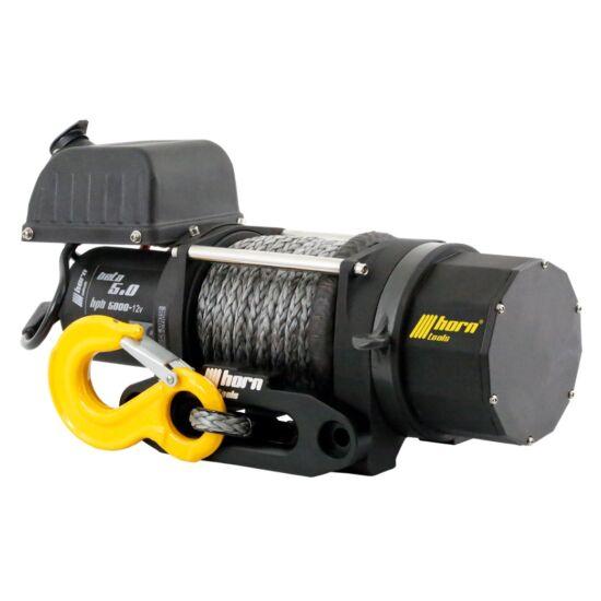 HORN Beta 5.0s - 12V, szintetikus kötéllel szerelve, vontatási kapacitás 2268 kg
