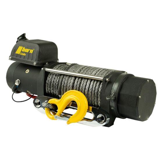 HORN Delta 8.0s - 12V, szintetikus kötéllel szerelve, vontatási kapacitás 3600 kg