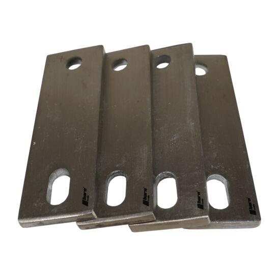 Tetősátor rögzítőlemez hosszú rozsdamentes acélból 4 darabos